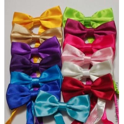 Как сделать галстук бабочку из атласных лент своими руками