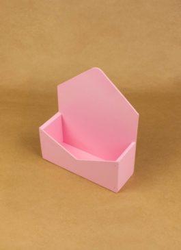 Конверт деревянный для цветов и подарков розовый