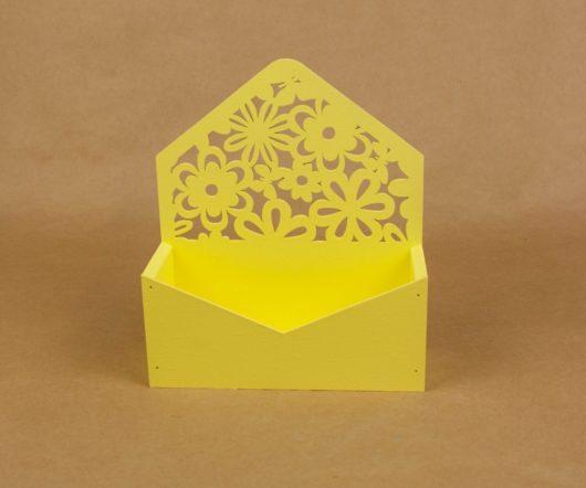 """Конверт деревянный для цветов и подарков """"Цветочный"""""""