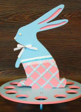 """Подставка для яиц """"Пасхальный зайчик по имени Длинные уши"""" (цвет на выбор)"""
