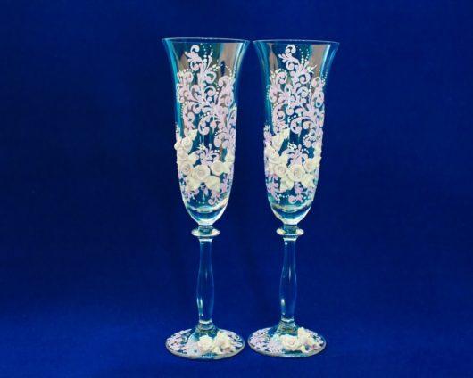 Купить бокалы на свадьбу ручной работы купить в Екатеринбурге недорого