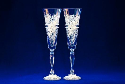 Европейские стаканы на свадьбу! Бокалы на свадьбу ручной работы купить в Екатеринбурге