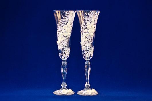 Свадебные бокалы приятные цены. Бокалы на свадьбу ручной работы купить в Екатеринбурге