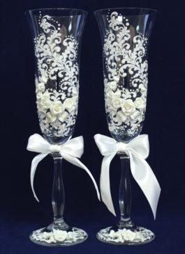 Бокалы жениха и невесты + Свеча