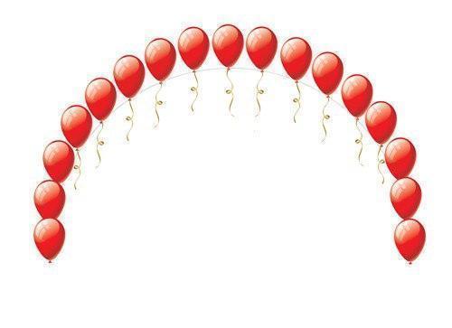 Арка напольная с грузиками из 17 шаров с гелием