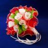 Фальш-букет невесты из белых роз