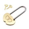 """Замочек """"Два сердца"""" с декоративными ключиками"""