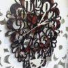 """Часы """"Люблю кофе"""" настенные ажурные из дерева под заказ"""