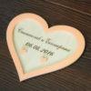 Подушечки для колец из дерева с имена и датой свадьбы