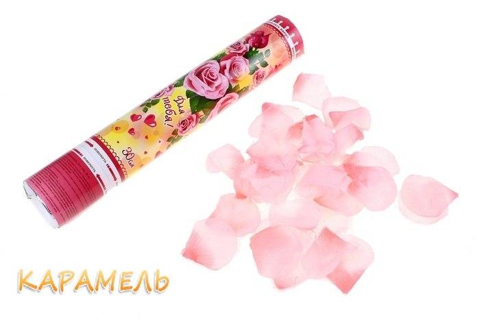 """Хлопушка """"Лепестки роз нежно-розовые"""""""
