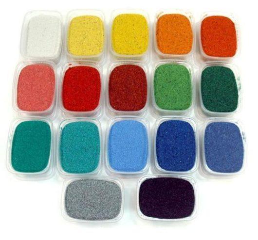 Цветной песок 500 гр.