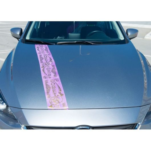 "Лента сиреневая с надписью ""Совет да любовь"" на машину на свадьбу"