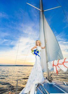 """Платье свадебное """"Рыбка"""" белого цвет 38,40,42 размер"""