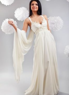 """Платье свадебное """"Ампир"""" молочного цвет 44,46,48 размер"""