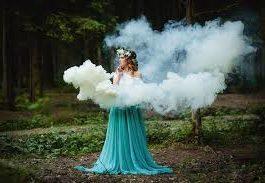 Цветной дым белый. Дымовая шашка до 20 сек
