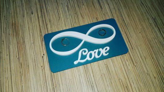"""Подставка деревянная для обручальных колец """"Бесконечность Love"""""""