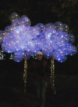Шары светящиеся с гелием со светодиодом