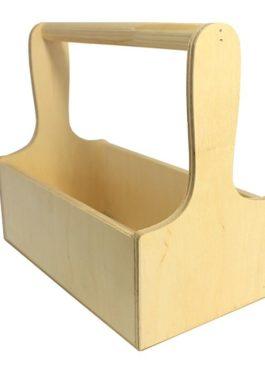 Ящик из фанеры с ручкой из массива 29*18*30 см