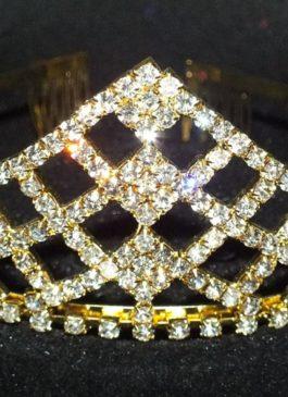Диадема со стразами под золото