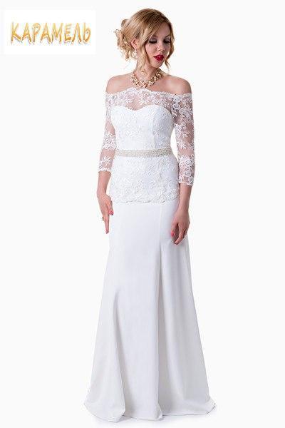 """Платье свадебное """"Рыбка"""" айвори цвет 40,42, 44 размер"""