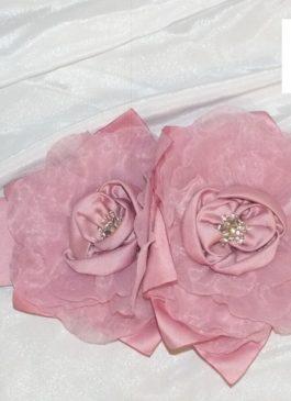 Пояс для свадебного платья цета пыльная роза