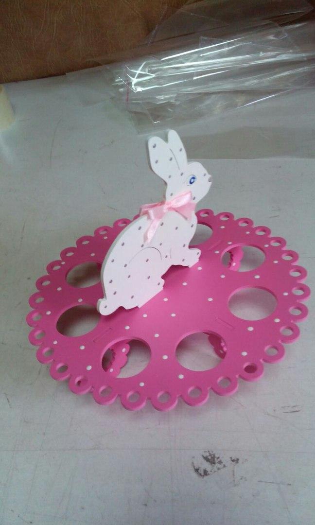 """Подставка для яиц """"Пасхальный зайчик"""" (цвет на выбор)"""