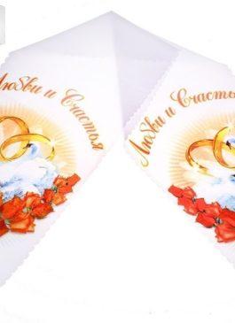 """Рушник для каравая """"Красные розы"""""""
