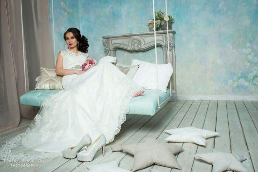 """Платье свадебное """"Рыбка"""" айвори цвет 42, 44 размер"""