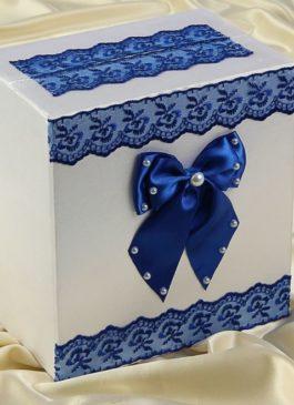 Сундучок для денег в синем цвете