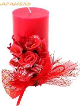 Свеча красная (столбик)