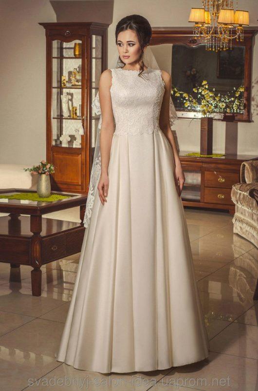 Платье свадебное 44 размер айвори + ФАТА в подарок