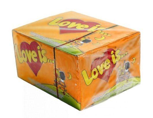 Жевательная резинка Love is , блок 100 штук