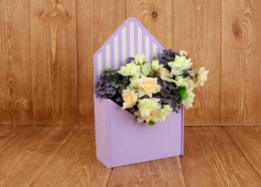 Конверт деревянный для цветов и подарков Увеличенный