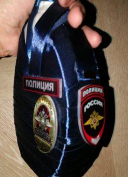 """Оформление бутылки к """"Дню Полиции"""""""