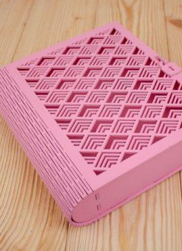 Книга 24*22*7 см розовая