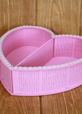 """""""Сердце"""" розовое для цветов и конфет"""