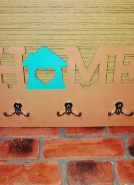 """Ключница с 3мя двойными крючками """"Home"""""""