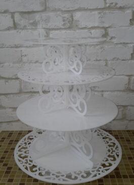 Подставка для свадебного торта и капкейков в ПРОКАТ