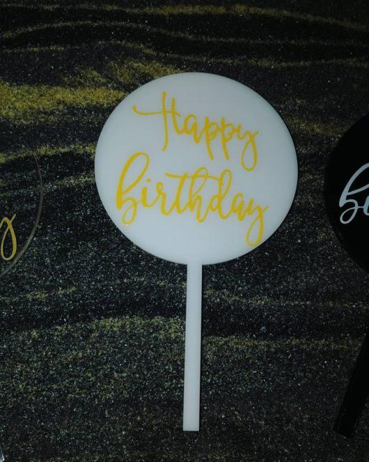 """Топпер """"Happy Birthday"""" черный"""