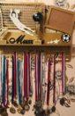 Медальница ИМЕННАЯ с полочкой под кубки Футбольный Вратарь  70*50 см для фото 15*21 см ПОД ЗАКАЗ