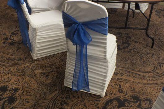 Банты синие на стулья в аренду