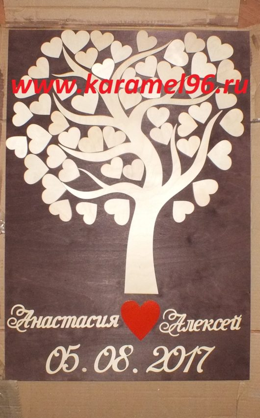"""Картина пожеланий ручной работы """"Семейное дерево"""""""