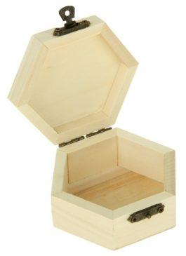 Шкатулка деревянная для обручальных колец: заготовка без декора