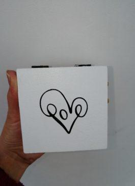 """Шкатулка деревянная для обручальных колец """"Love"""""""