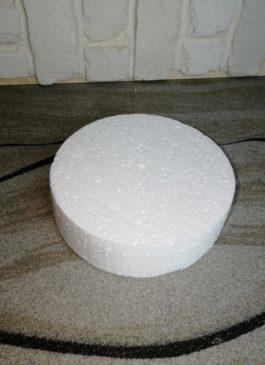 Фальш-ярус для торта из пенопласта диаметром 18 см, выстой 5 см