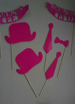 """Набор бутафории из картона """"Розовый"""""""