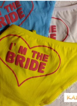 "Трусики I'm the Bride  (с англ. ""Я -невеста"")"