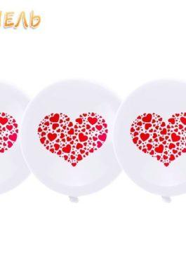 Набор шаров (7шт) красного цвета 25 см. без воздуха/гелия для самостоятельно надува