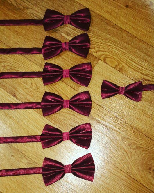 Набор бабочек марсала для свадьбы (7 взрослых +1 детская)