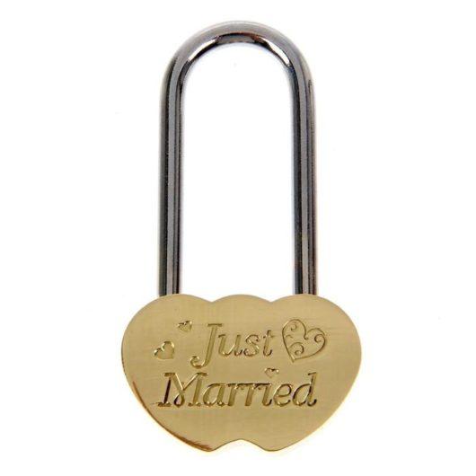 """Замочек """"Just Married"""" без ключей Свадебный замок в наличии"""